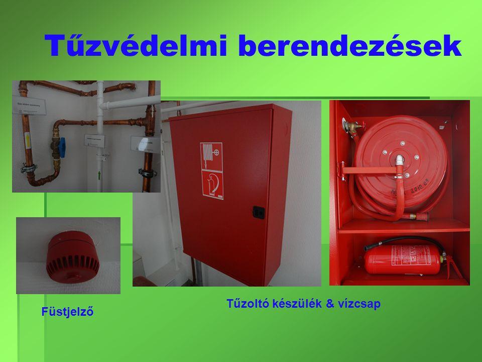 Tűzvédelmi berendezések Füstjelző Tűzoltó készülék & vízcsap