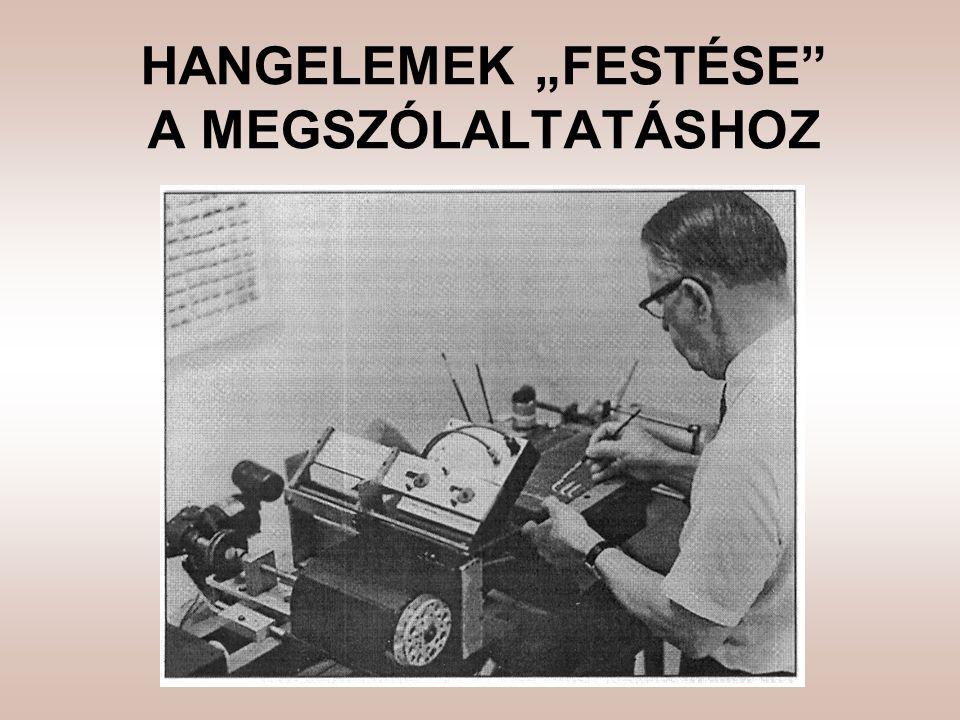 """HANGELEMEK """"FESTÉSE A MEGSZÓLALTATÁSHOZ"""