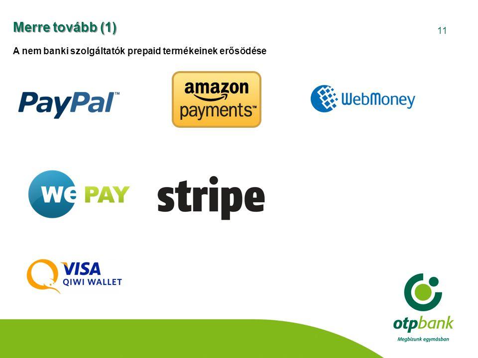 11 Merre tovább (1) A nem banki szolgáltatók prepaid termékeinek erősödése