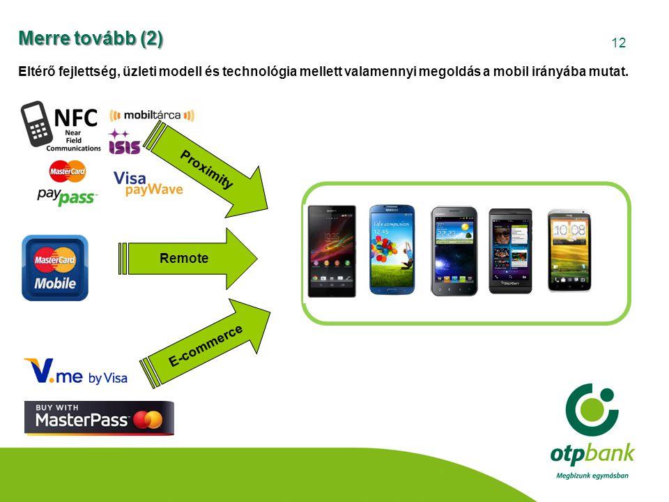 12 Remote E-commerce Proximity Eltérő fejlettség, üzleti modell és technológia mellett valamennyi megoldás a mobil irányába mutat. Merre tovább (2)