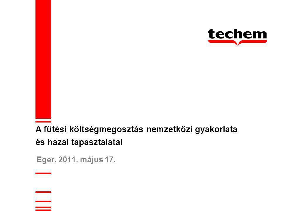 Eger, 2011. május 17. A fűtési költségmegosztás nemzetközi gyakorlata és hazai tapasztalatai