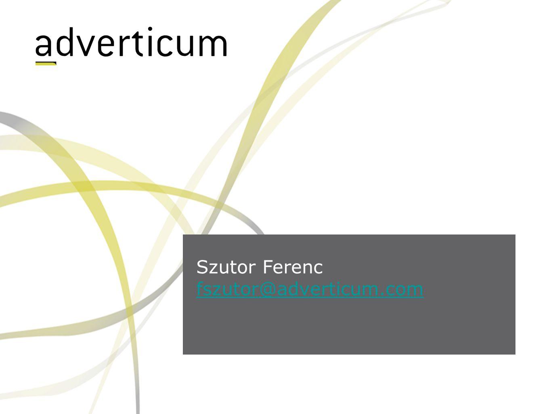 Szutor Ferenc fszutor@adverticum.com
