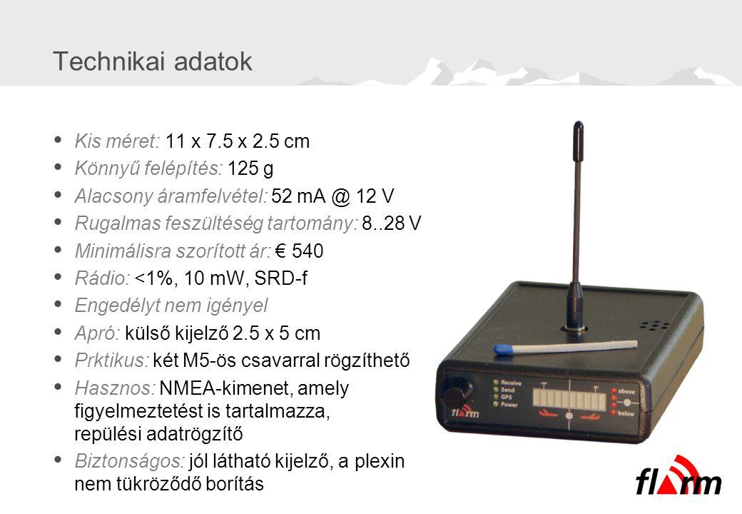 Technikai adatok  Kis méret: 11 x 7.5 x 2.5 cm  Könnyű felépítés: 125 g  Alacsony áramfelvétel: 52 mA @ 12 V  Rugalmas feszültéség tartomány: 8..2