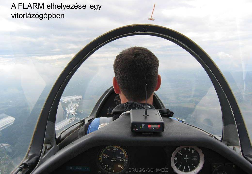 BRUGG-SCHWEIZ A FLARM elhelyezése egy vitorlázógépben