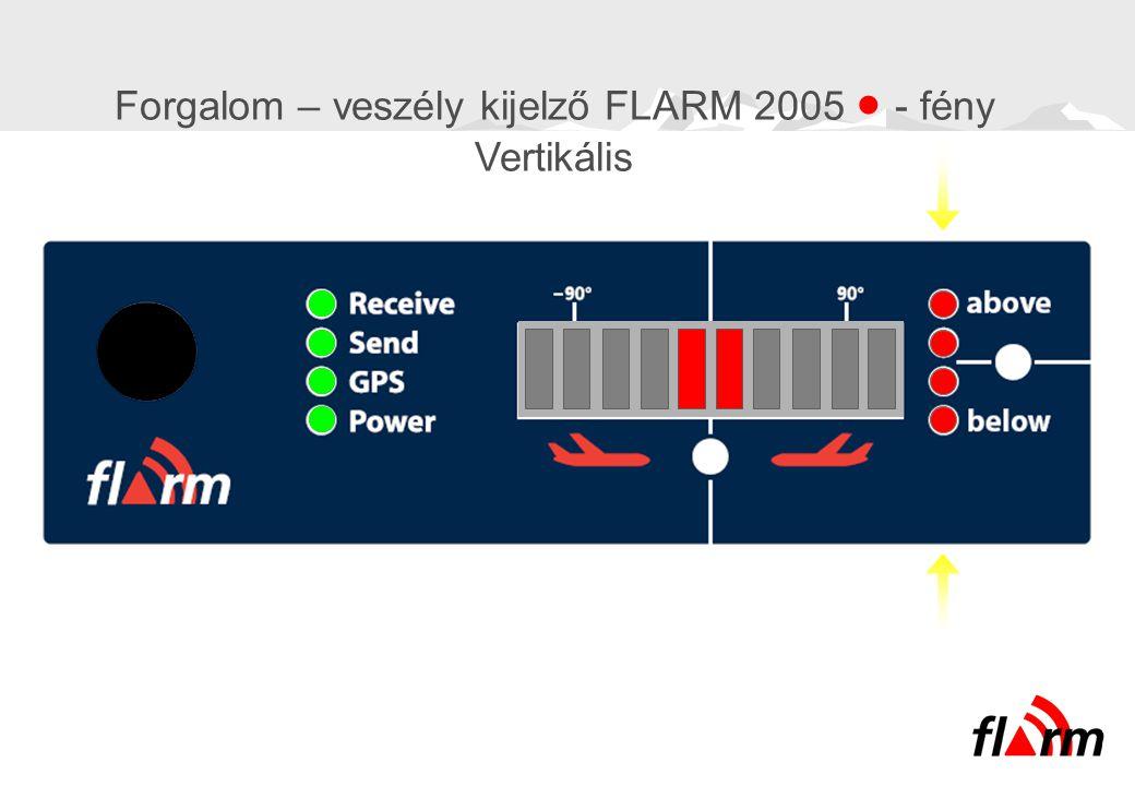 Forgalom – veszély kijelző FLARM 2005  - fény Vertikális