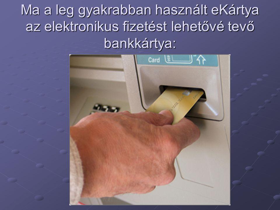 Ma a leg gyakrabban használt eKártya az elektronikus fizetést lehetővé tevő bankkártya: