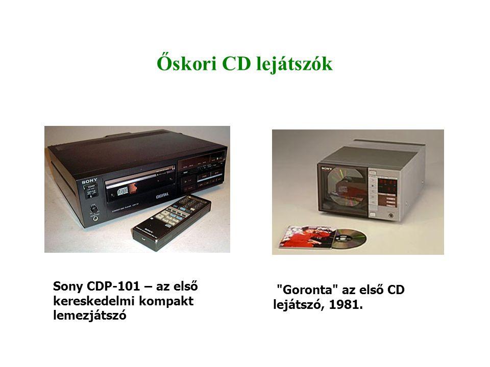 Őskori CD lejátszók Sony CDP-101 – az első kereskedelmi kompakt lemezjátszó Goronta az első CD lejátszó, 1981.