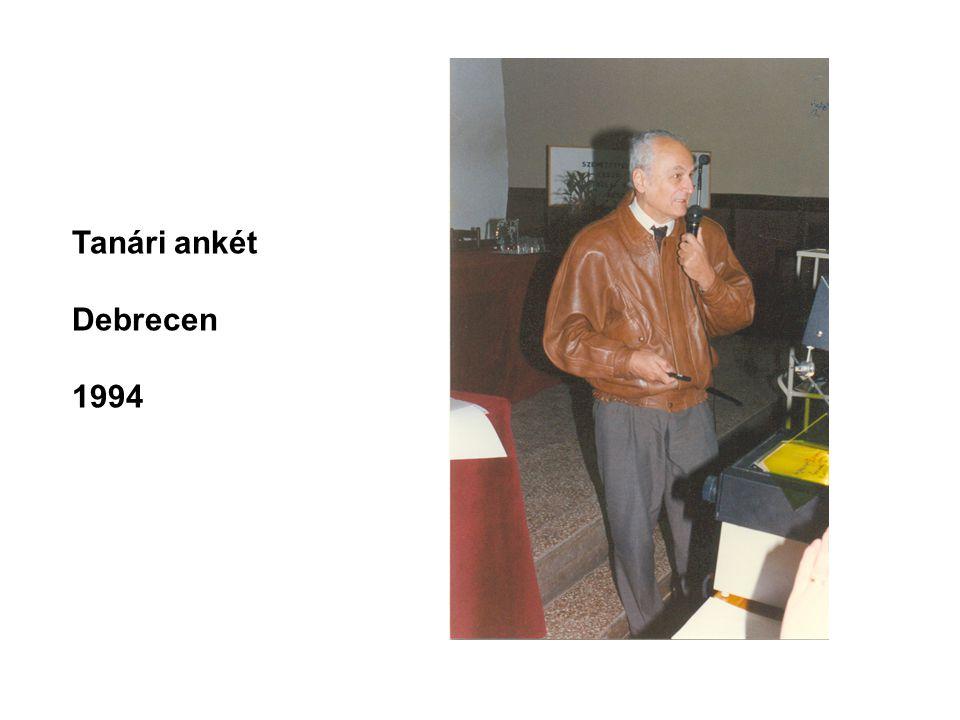 Tanári ankét Debrecen 1994