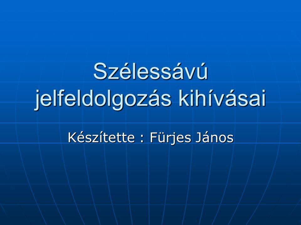 Szélessávú jelfeldolgozás kihívásai Készítette : Fürjes János