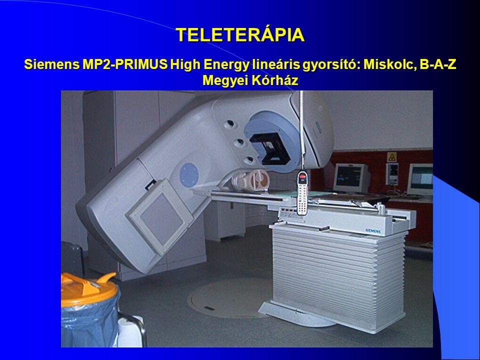 TELETERÁPIA Siemens MP2-PRIMUS High Energy lineáris gyorsító: Miskolc, B-A-Z Megyei Kórház