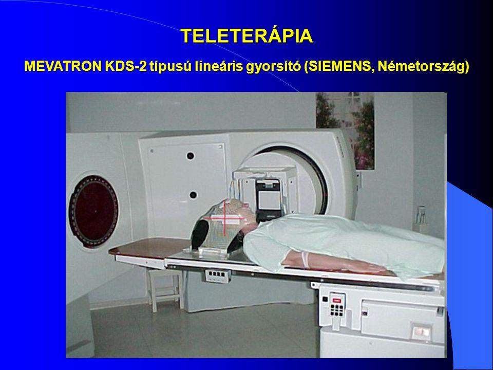 TELETERÁPIA MEVATRON KDS-2 típusú lineáris gyorsító (SIEMENS, Németország)