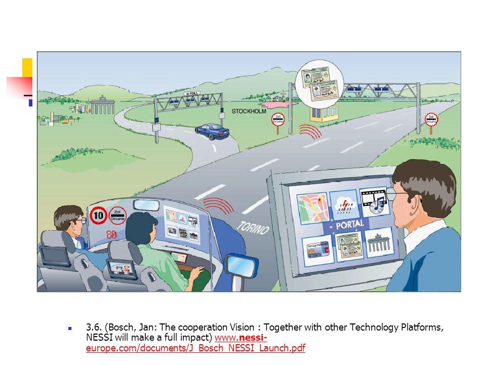 3.6. az infokommunikáció alapelve  3.6. (Bosch, Jan: The cooperation Vision : Together with other Technology Platforms, NESSI will make a full impact