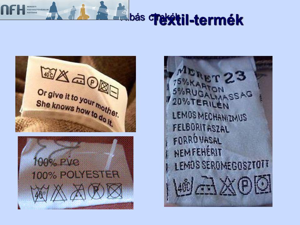 Hibás címkék Textil-termék