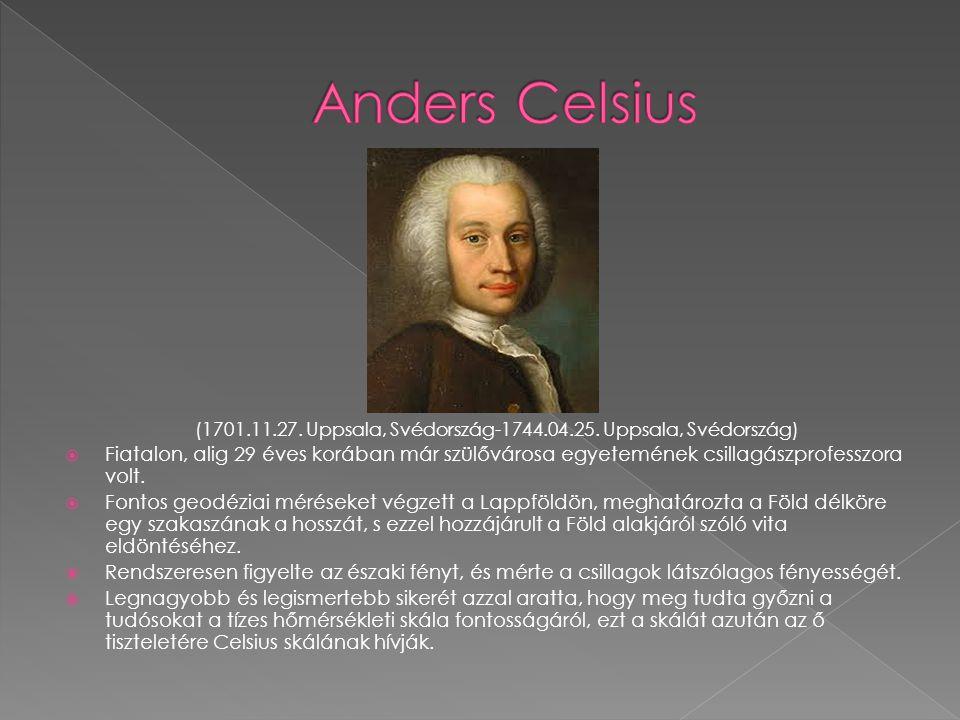  Fiatalon, alig 29 éves korában már szülővárosa egyetemének csillagászprofesszora volt.  Fontos geodéziai méréseket végzett a Lappföldön, meghatároz
