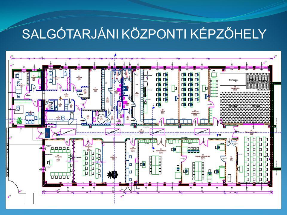 SALGÓTARJÁNI KÖZPONTI KÉPZŐHELY tanműhelyei és eszközbeszerzései  Gépészeti műhely: - CNC eszterga, - CNC 3 tengelyes maró, - CNC 4 tengelyes maró, - CNC palástköszörű, - CNC huzalos szikraforgácsoló (+ 13 db tanulói munkahely)