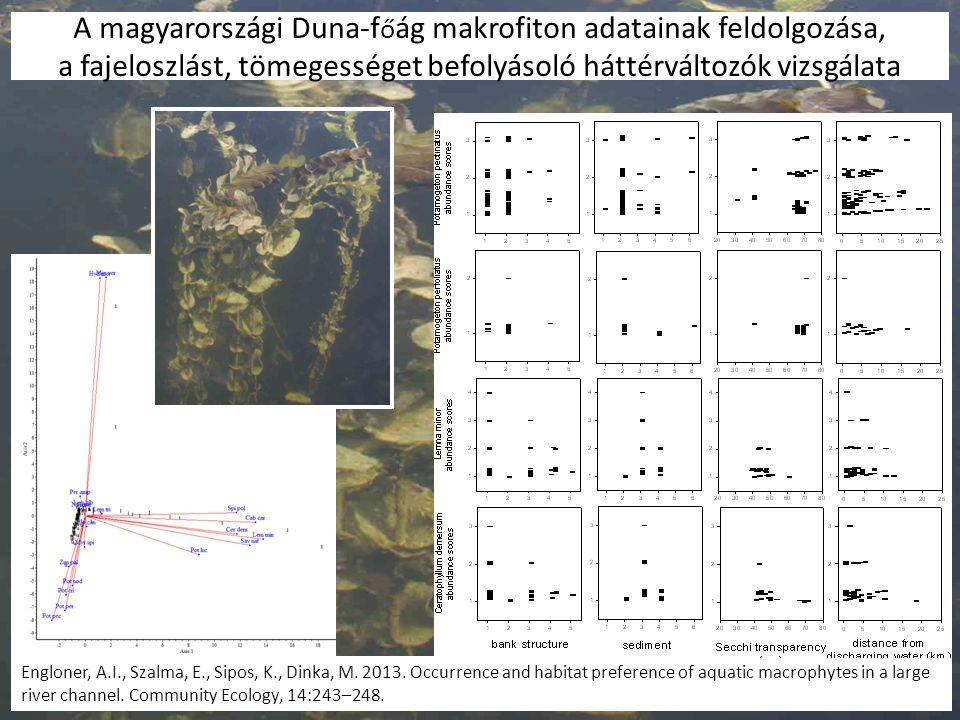 A magyarországi Duna-f ő ág makrofiton adatainak feldolgozása, a fajeloszlást, tömegességet befolyásoló háttérváltozók vizsgálata Engloner, A.I., Szal