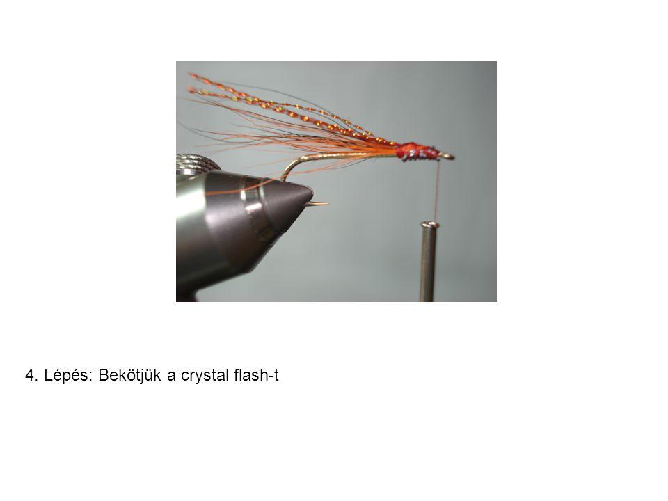 4. Lépés: Bekötjük a crystal flash-t