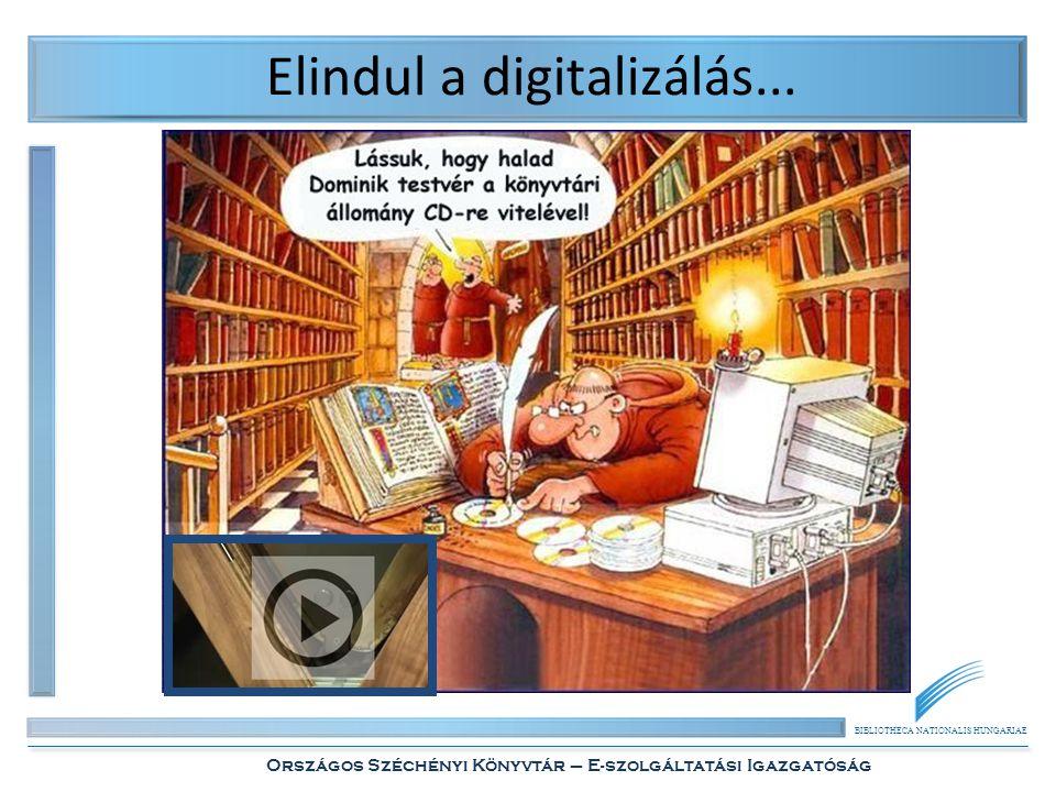 BIBLIOTHECA NATIONALIS HUNGARIAE Országos Széchényi Könyvtár – E-szolgáltatási Igazgatóság Elindul a digitalizálás...