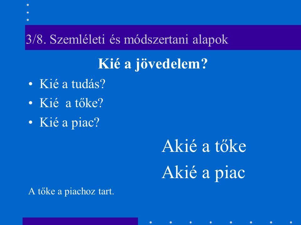 3/8. Szemléleti és módszertani alapok Kié a jövedelem.