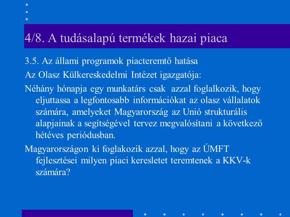 4/8. A tudásalapú termékek hazai piaca 3.5.