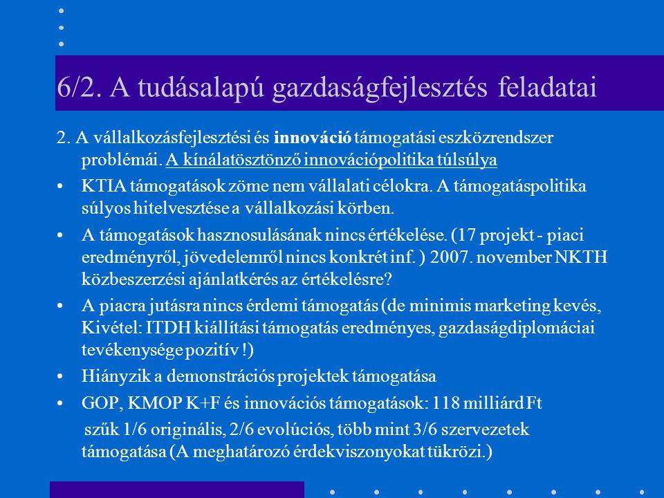 6/2. A tudásalapú gazdaságfejlesztés feladatai 2.