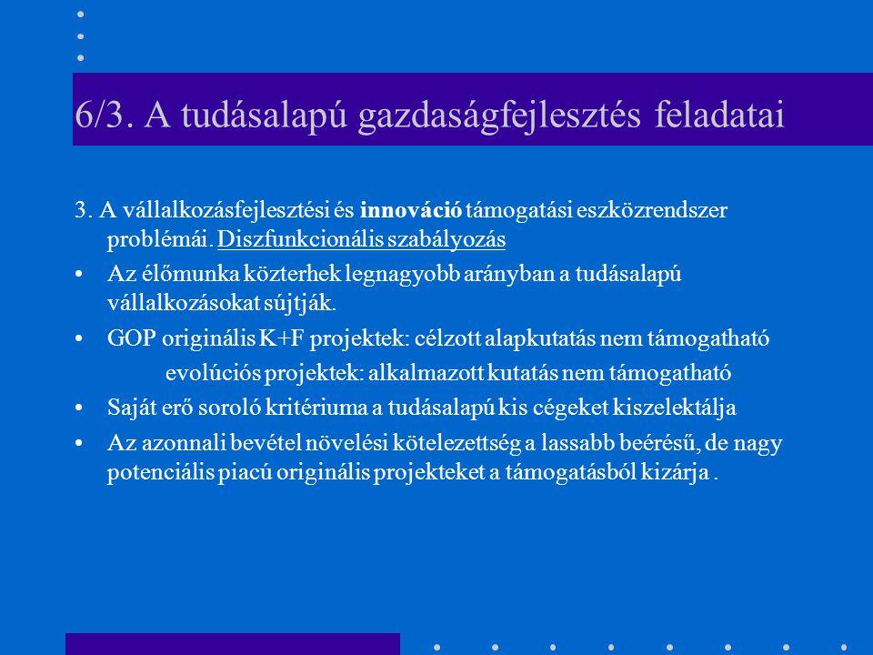 6/3. A tudásalapú gazdaságfejlesztés feladatai 3.