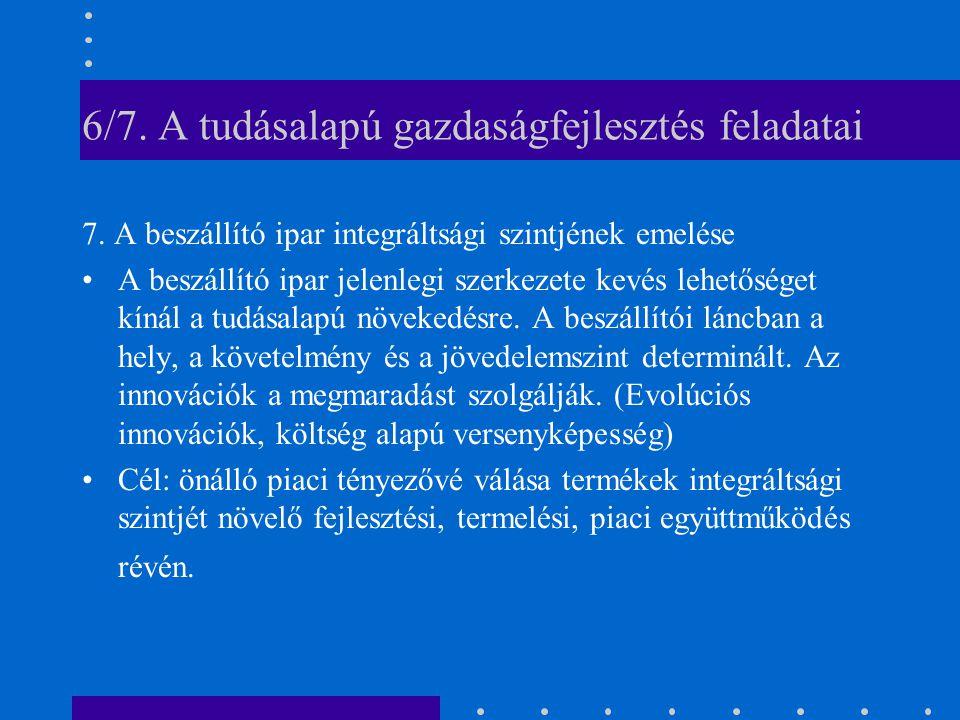6/7. A tudásalapú gazdaságfejlesztés feladatai 7.