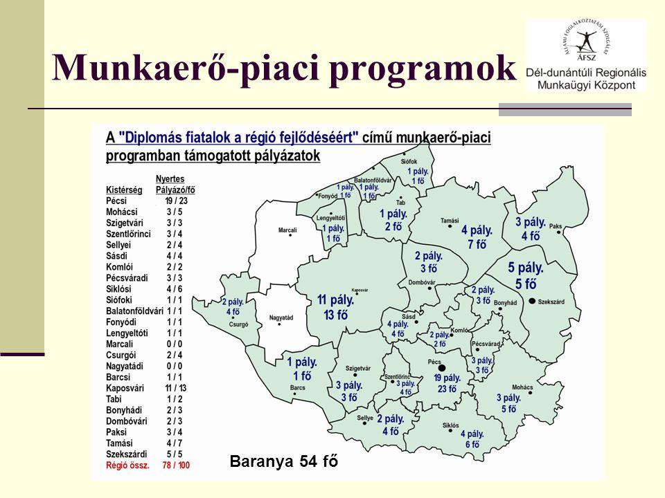 Munkaerő-piaci programok Baranya 54 fő