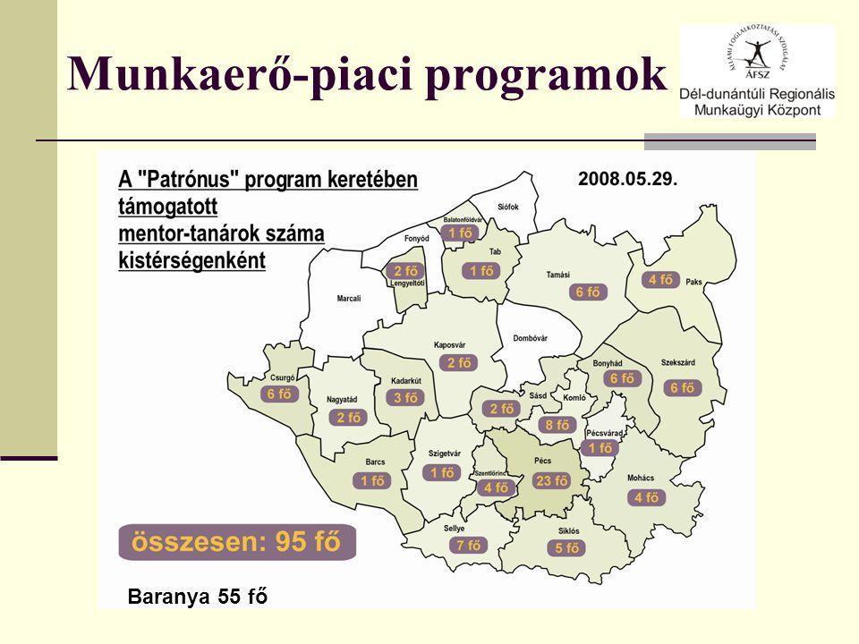 Munkaerő-piaci programok Baranya 55 fő