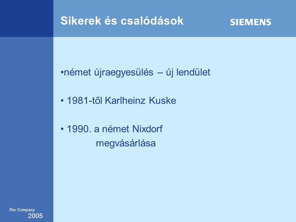 2005 The Company Sikerek és csalódások •német újraegyesülés – új lendület • 1981-től Karlheinz Kuske • 1990.