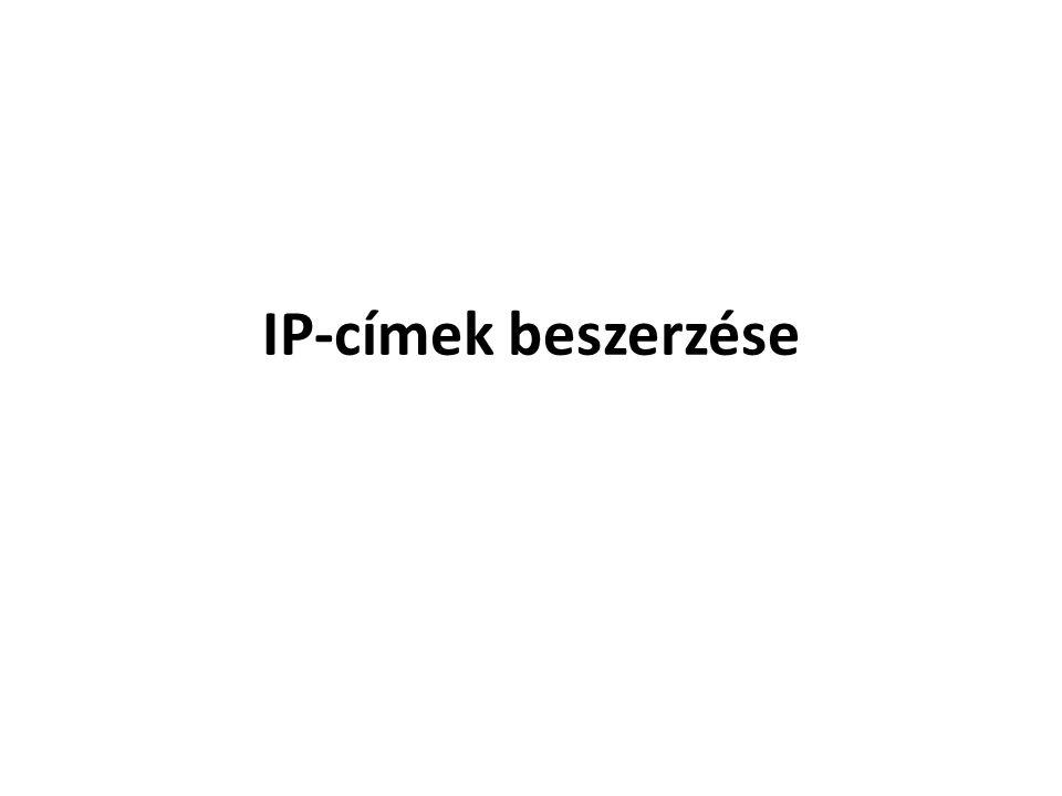 IP-címek beszerzése