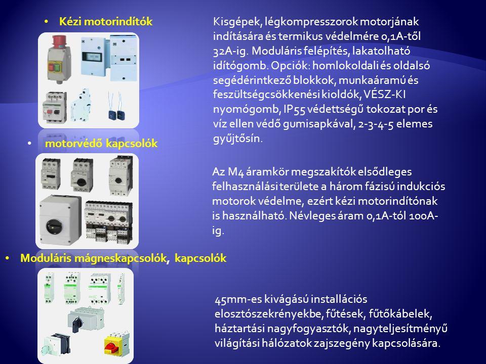 • Kézi motorindítókKisgépek, légkompresszorok motorjának indítására és termikus védelmére 0,1A-től 32A-ig.