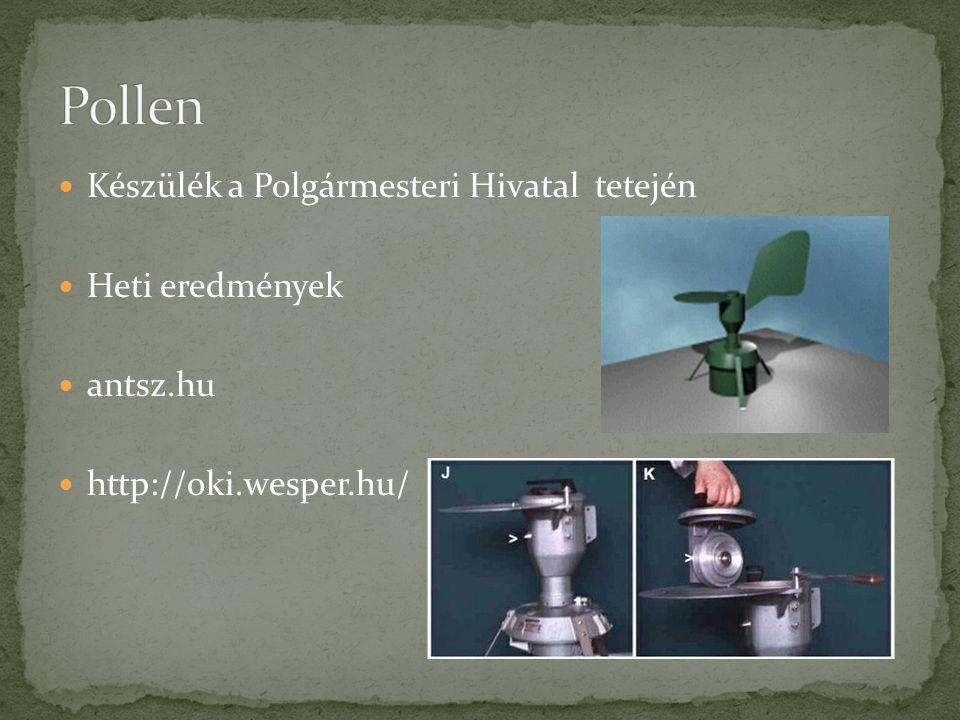  Készülék a Polgármesteri Hivatal tetején  Heti eredmények  antsz.hu  http://oki.wesper.hu/