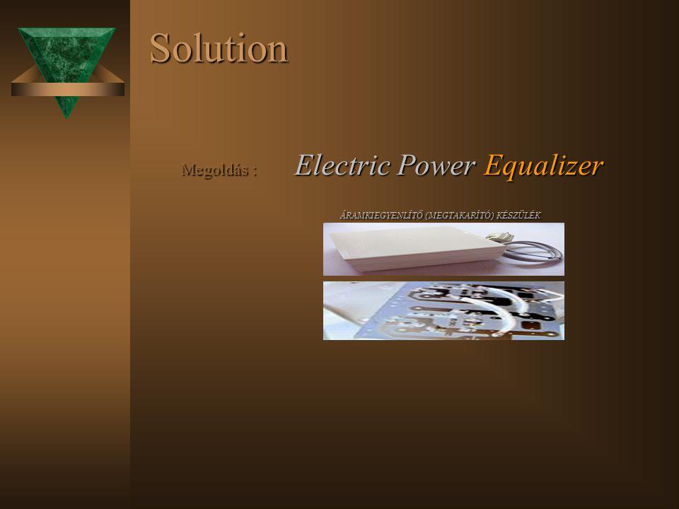 Solution Megoldás : Electric Power Equalizer Megoldás : Electric Power Equalizer ÁRAMKIEGYENLÍTŐ (MEGTAKARÍTÓ) KÉSZÜLÉK ÁRAMKIEGYENLÍTŐ (MEGTAKARÍTÓ) KÉSZÜLÉK