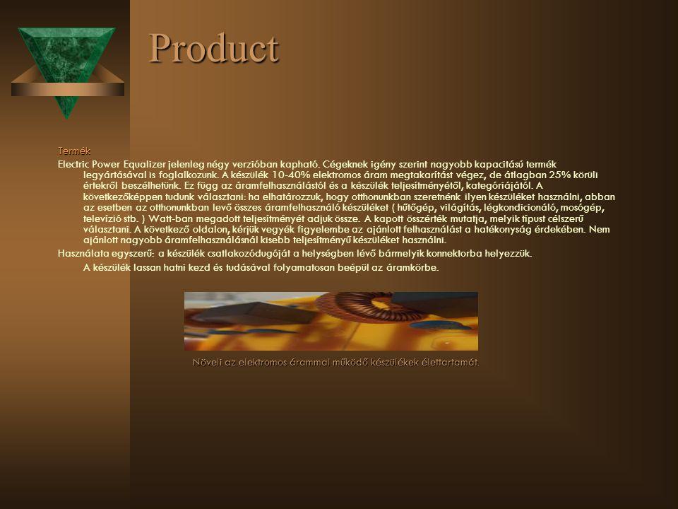 Product Termék Electric Power Equalizer jelenleg négy verzióban kapható. Cégeknek igény szerint nagyobb kapacitású termék legyártásával is foglalkozun