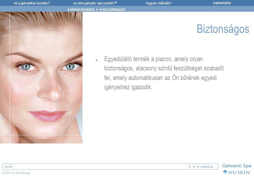 mi a galvanikus kezelés?karbantartásnu skin galvanic spa system™hogyan működik? home © 2001 Nu Skin Europe Biztonságos  Egyedülálló termék a piacon,