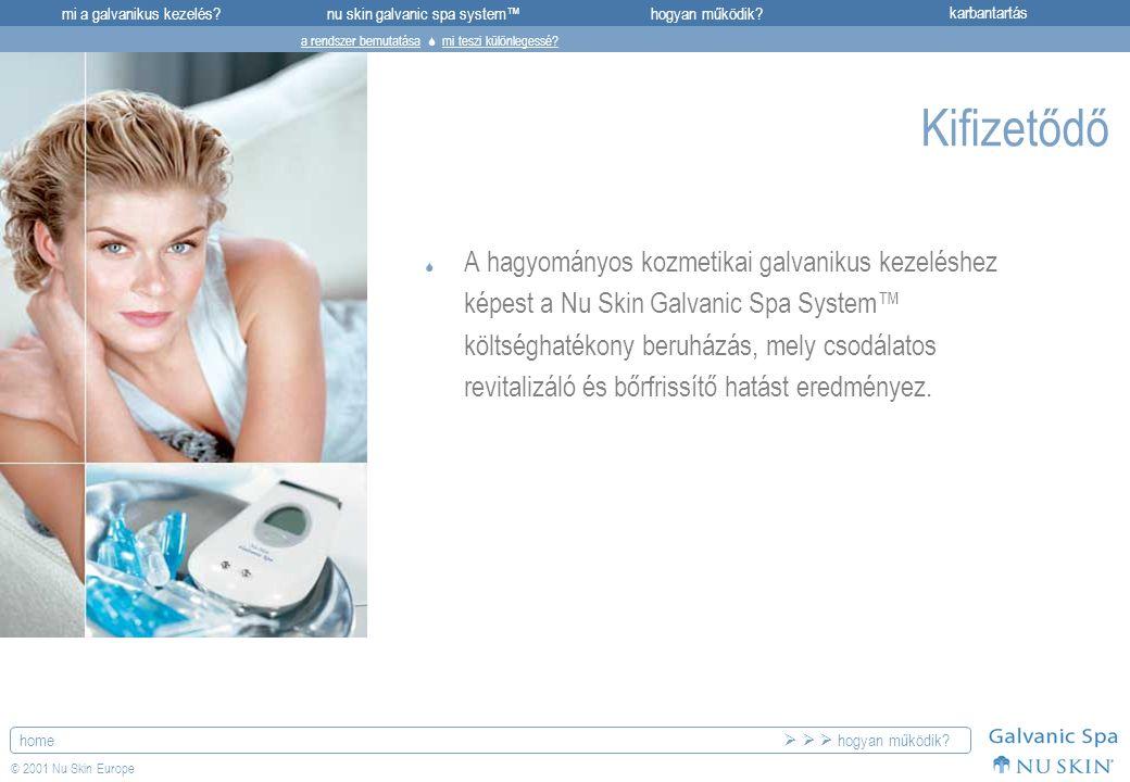mi a galvanikus kezelés?karbantartásnu skin galvanic spa system™hogyan működik? home © 2001 Nu Skin Europe Kifizetődő  A hagyományos kozmetikai galva