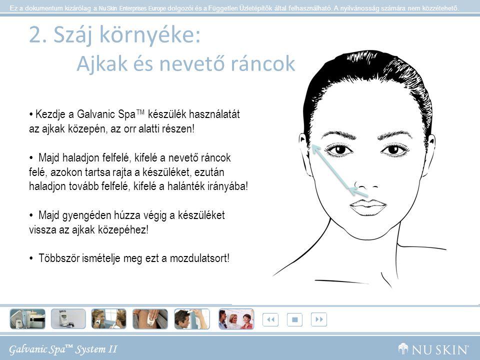 Galvanic Spa ™ System II Ez a dokumentum kizárólag a Nu Skin Enterprises Europe dolgozói és a Független Üzletépítők által felhasználható.