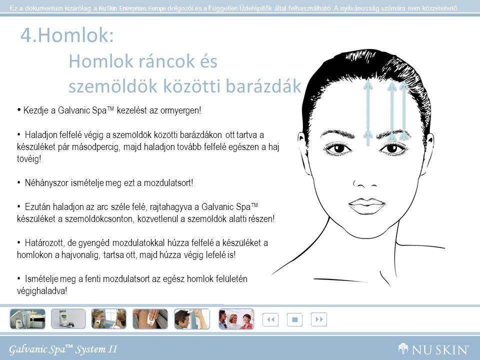 Galvanic Spa ™ System II Ez a dokumentum kizárólag a Nu Skin Enterprises Europe dolgozói és a Független Üzletépítők által felhasználható. A nyilvánoss