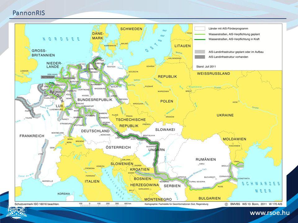 """Nemzetközi kitekintés – Hajó nyomkövetés www.rsoe.hu PannonRIS Dunai országok:  Németország: """"Selbstwarschau""""  Ausztria: kötelező 2008 júliusától """