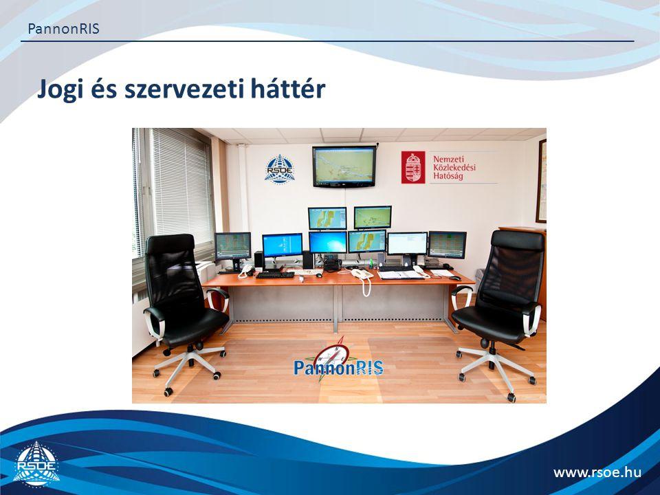 Jogi és szervezeti háttér www.rsoe.hu PannonRIS Szolgáltatások Általános információk Vízállás Hajósoknak szóló hirdetmények Hajókövető Elektronikus hajózási térkép letöltés