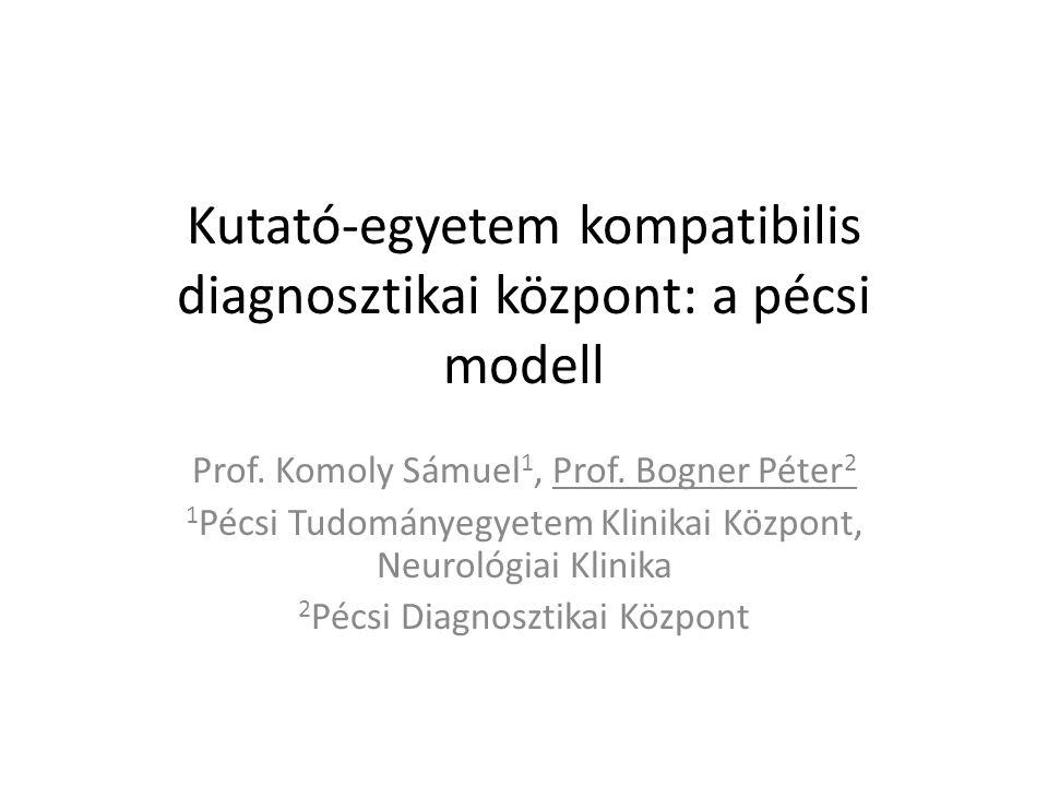 Kutató-egyetem kompatibilis diagnosztikai központ: a pécsi modell Prof.