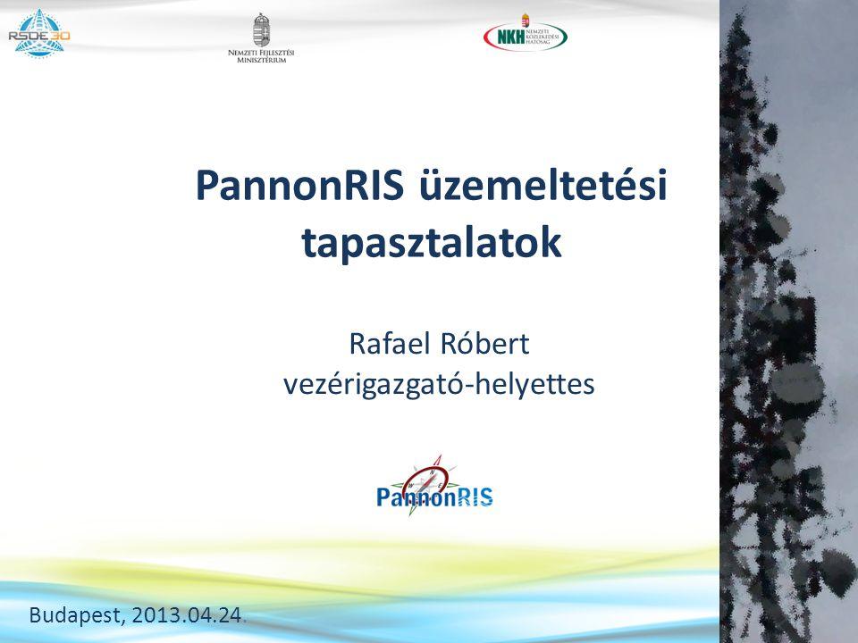PannonRIS üzemeltetési tapasztalatok Rafael Róbert vezérigazgató-helyettes Budapest, 2013.04.24.