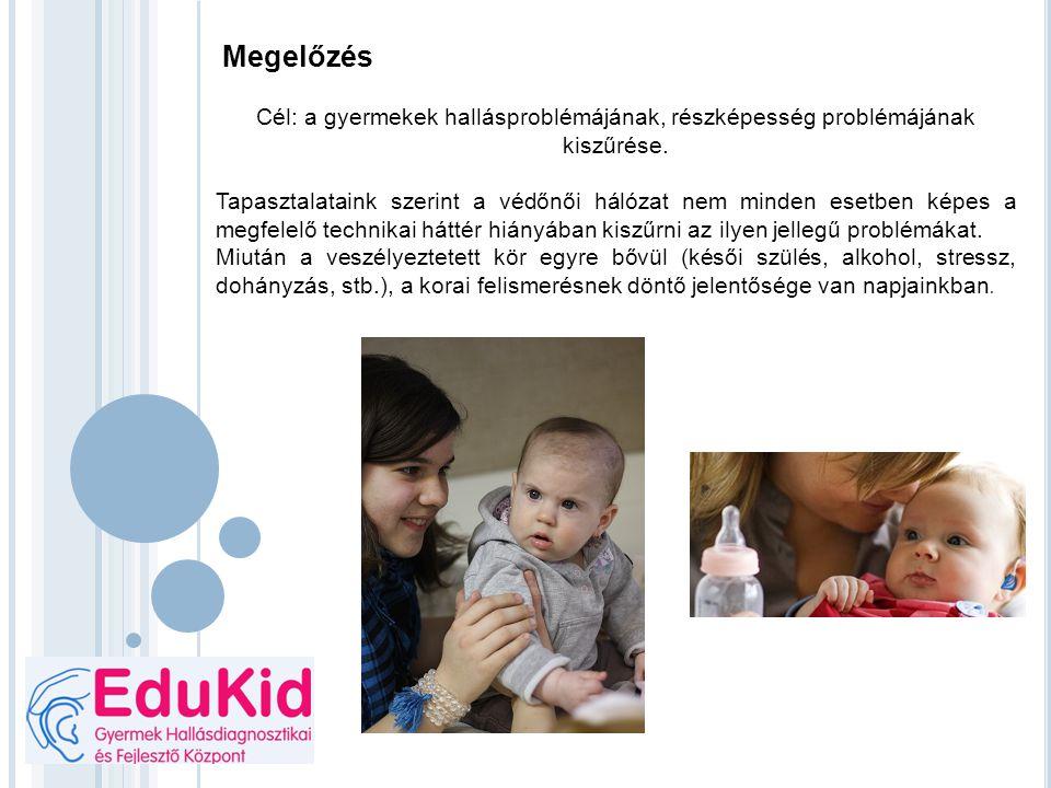 Megelőzés Cél: a gyermekek hallásproblémájának, részképesség problémájának kiszűrése. Tapasztalataink szerint a védőnői hálózat nem minden esetben kép