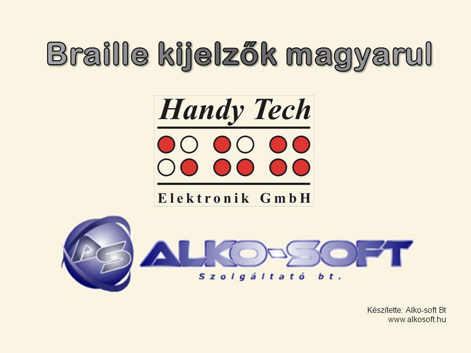 A Braille eszközök általános jellemzői