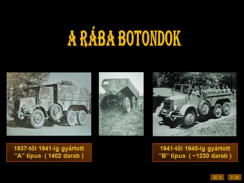 1937-től 1941-ig gyártott A típus ( 1402 darab ) 1941-től 1945-ig gyártott B típus ( ~1230 darab )