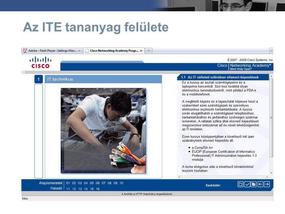 ECDL vizsgamentesség Az ITE tananyagot 5 tanórányi ECDL tartalommal kiegészítve született meg az ITE+, amely mentességet ad az ECDL 2.