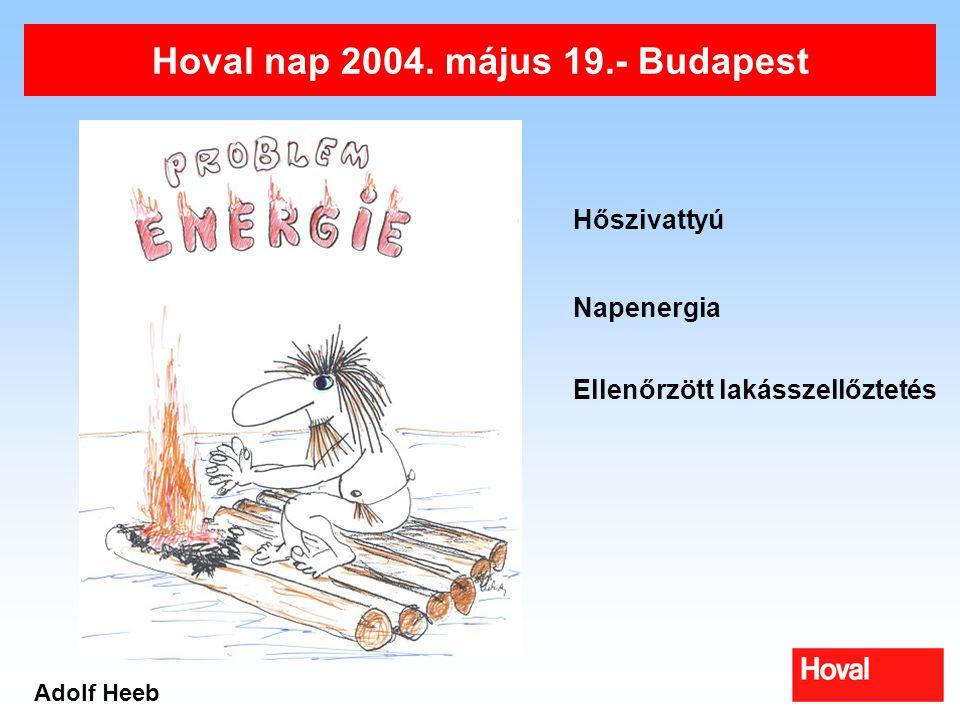Hoval nap 2004. május 19.- Budapest Adolf Heeb Hőszivattyú Napenergia Ellenőrzött lakásszellőztetés
