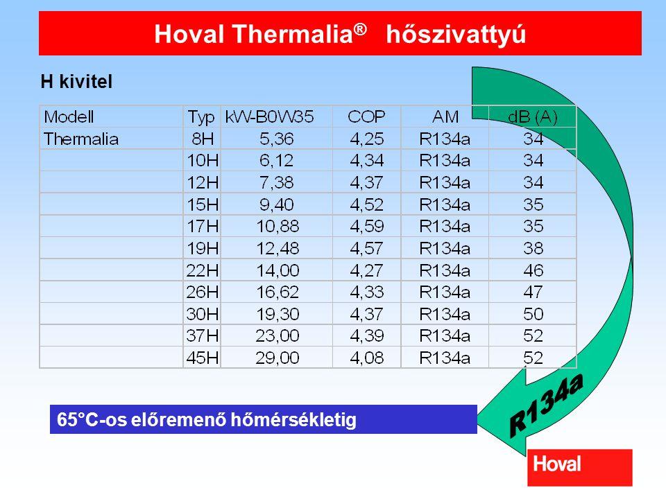 H kivitel 65°C-os előremenő hőmérsékletig Hoval Thermalia ® hőszivattyú