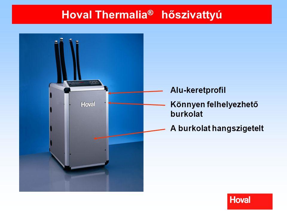 Hoval Thermalia ® hőszivattyú Alu-keretprofil Könnyen felhelyezhető burkolat A burkolat hangszigetelt